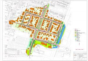 ontwerptekening bomenbuurt Sint Pancras