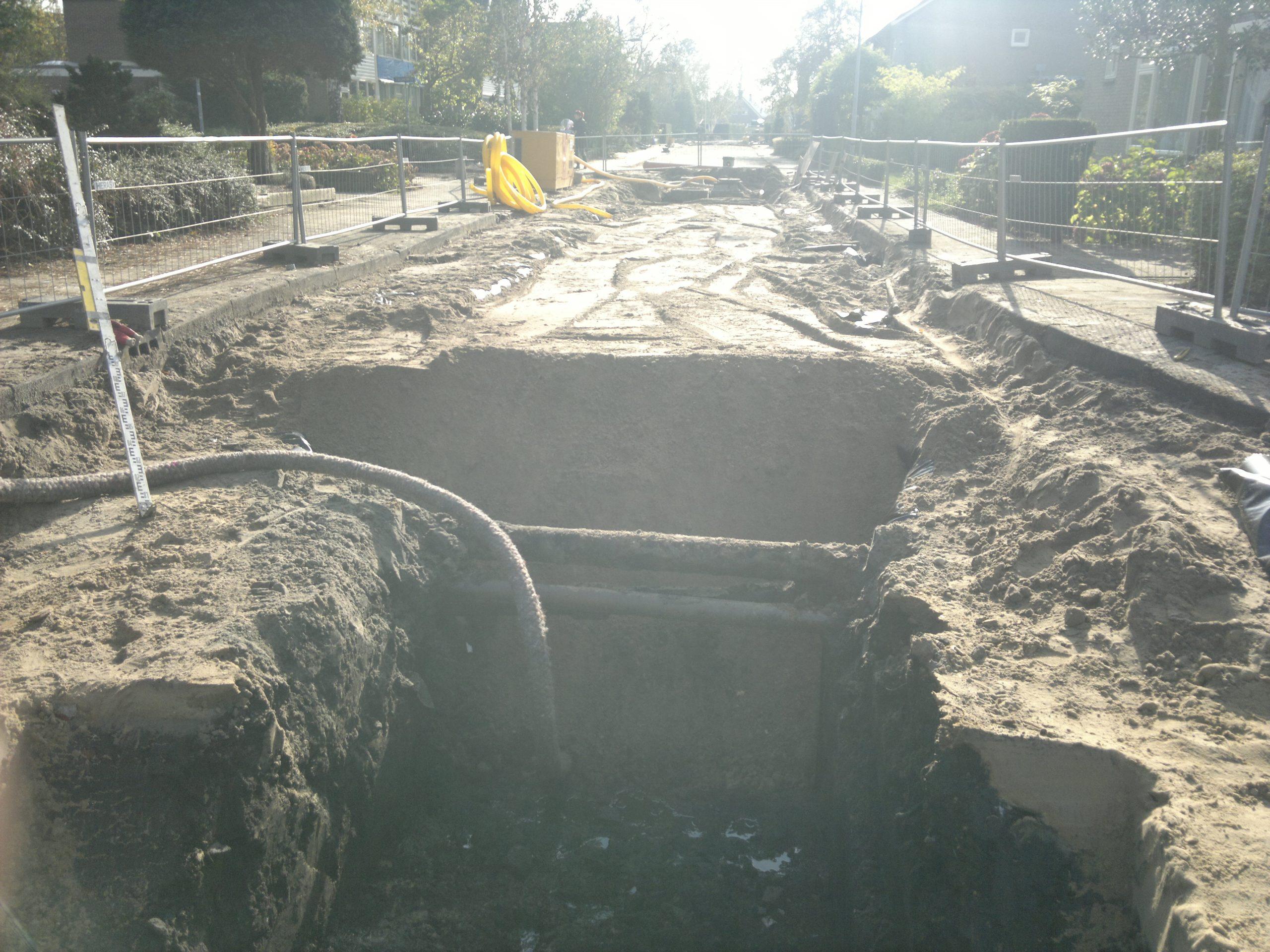 Saneringswerkzaamheden Scholeksterstraat te Landsmeer